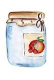 Illustrationsgläser in Essig eingelegtes Gemüse Lizenzfreie Stockfotografie