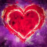 Illustrationsherz im Herzen Stockfotos