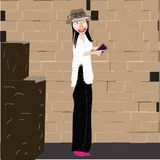Illustrationsidee der jungen Frau lizenzfreies stockfoto