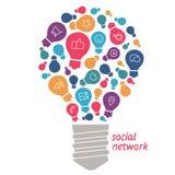 Illustrationsideen auf dem Gebiet des Sozialen Netzes Stockfotos