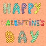 Illustrationskarte des Valentinstags Zusätzliches Format ENV 8 Lizenzfreies Stockbild