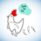 Illustrationskindervogelei der Hühnerkarikaturhenne tierisches nettes Lizenzfreie Stockfotos