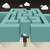 Illustrationskonzept der Herausforderung Stockfoto