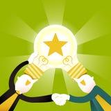 Illustrationskonzept der kreativen Zusammenarbeit lizenzfreie abbildung