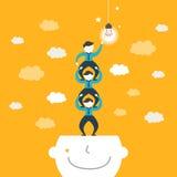 Illustrationskonzept der Teamarbeit