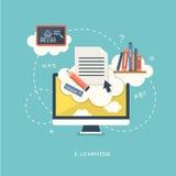 Illustrationskonzept für on-line-Bildung Lizenzfreie Stockfotos