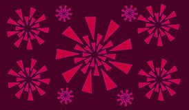 Illustrationskunst des abstrakten modernen Hintergrundes lizenzfreies stockbild