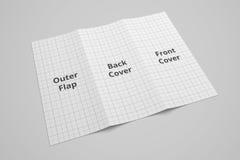 Illustrationsmodell der Broschüre 3D US-Buchstaben dreifachgefaltetes mit dem keinem Gitter 5 Stockbild