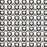 Illustrationsmodemuster mit Herzen am glücklichen Valentinsgruß-Tag stockbilder