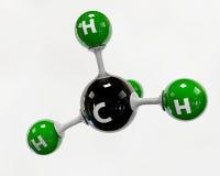Illustrationsmolekül des Gas-Methans auf einem weißen Hintergrund vektor abbildung