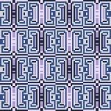 Illustrationsmuster-Hintergrundblau Stockbilder