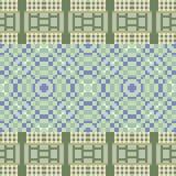 Illustrationsmusterhintergrund grün-blau Stockfotos
