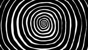 Illustrationspiral, bakgrund Hypnotisk dynamisk virvel Fotografering för Bildbyråer