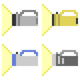Illustrationspixel-Kunsttaschenlampe Stockfoto