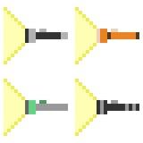 Illustrationspixelkunst-Ikonentaschenlampe Lizenzfreies Stockbild