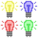 Illustrationspixelkunst-Ikonentaschenlampe Lizenzfreie Stockfotos