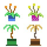 Illustrationspixelkunstikonen-Blumentopf Lizenzfreies Stockfoto