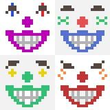 Illustrationspixelkunstikonen-Clowngesicht Lizenzfreie Stockbilder