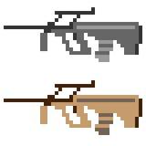 Illustrationspixelkunstikonen-Gewehrsturmgewehr Stockfotografie