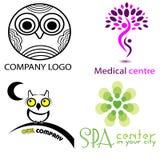 Illustrationssatz von Logo vier Stockfotografie