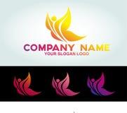 Illustrationsschmetterlings-Logokonzept lizenzfreies stockfoto