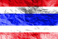 Illustrationssymbol Thailand-Staatsflagge 3D Stockfotografie