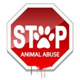 Stoppa djurt missbruk Arkivbild