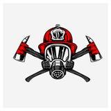 Illustrationsvektor des Feuerwehrmanns Stockfotografie
