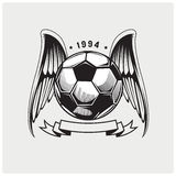 Illustrationsvektor des Fußballs Stockbild