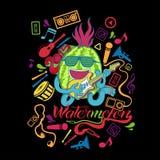 Illustrationswassermelonen-T-Shirt Design Lizenzfreies Stockbild