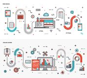 Illustrationuppsättning för grafisk design royaltyfri illustrationer