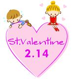 illustrationvalentin stock illustrationer