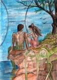 illustrationvattenfärg Royaltyfri Bild