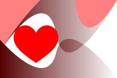 Illustrationvektor av begreppet för dag för valentin` s, röd hjärta och den grafiska kurvan Fotografering för Bildbyråer