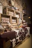 Illustrativ redaktörs- bild Matvaruaffär shoppar i Normandie, Frankrike Royaltyfria Bilder
