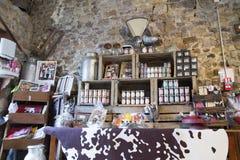 Illustrativ redaktörs- bild Matvaruaffär shoppar i Normandie, Frankrike Royaltyfri Fotografi