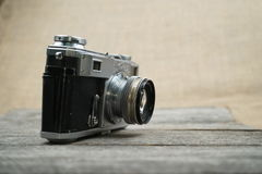 Illustrative, editorial photo of old cameras and lenses Stock Images
