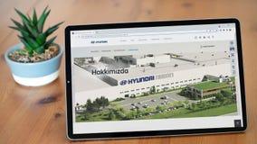 Illustrative Editorial screenshot of Turkish Hyundai Assan Otomotiv homepage