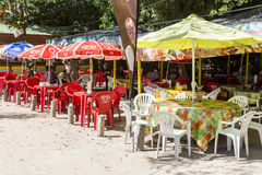 Illustrative editotial image. Beach bar Martinique Stock Photography