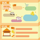 Illustrative orange banner Stock Images