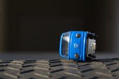 Illustrative photo of Volkswagen toy car for diesel engine emission scandal Royalty Free Stock Photo