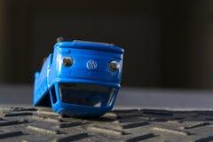 Illustrative photo of Volkswagen toy car for diesel engine emission scandal Stock Image