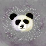 Illustrative portrait of Panda.Cute attractive face bears. Royalty Free Stock Photos