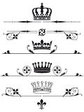 Illustrato stabilito delle corone reali Fotografia Stock