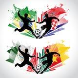 Illustraton de los jugadores de fútbol que representan el differe Imagen de archivo libre de regalías