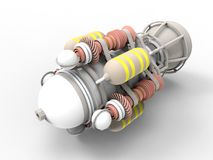 Illustraton du moteur à réaction 3D de Turbo illustration de vecteur
