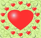 Illustraton of red heart Stock Photography