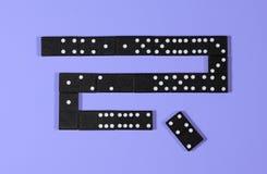 Illustraton of schema van blockchain met domino's Stock Afbeelding