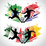 Illustraton of soccer players representing differe Royalty Free Stock Image