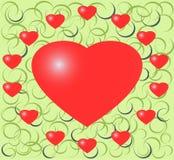 Illustraton van rood hart Stock Fotografie